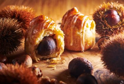 冬にピッタリ!プレミアムアップルパイと一粒栗のマロンパイ
